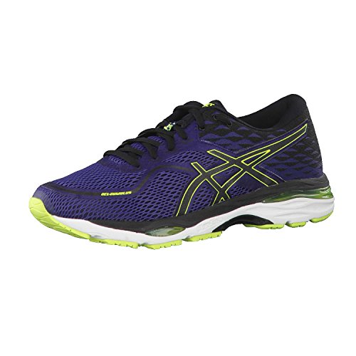 Asics Gel-Cumulus 19, Scarpe Running Uomo, Blu (Indigo Blue/Black/Safety Yellow 4990), 40.5 EU