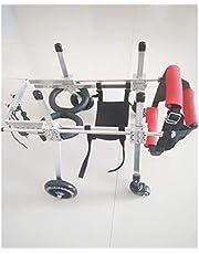 Hondenharnas, hondenbuggy's, hondenrolstoel - voor de meeste honden 0-50 kg - achtersteun - voor huisdier/kat achterbeenrevalidatie voor gehandicapte hond, 4 wielen