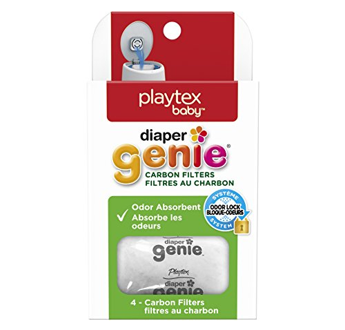 Diaper Genie Playtex Carbon Filter Refill Tray for Diaper Pails, 4 Count