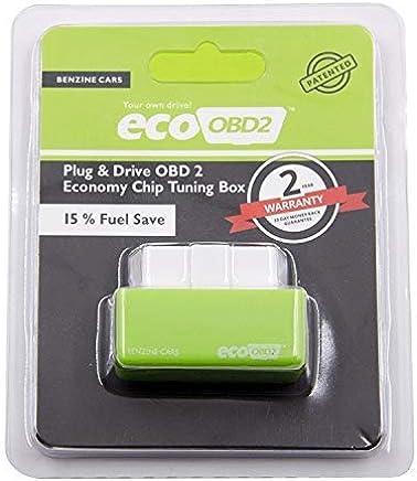 E T EASYTAO Ahorrador de Gasolina para Autos OBD2 Chip Eco Tuning Reprogramador Caja de Ajustede Rendimiento, para optimización de Combustible, bencina de Coches