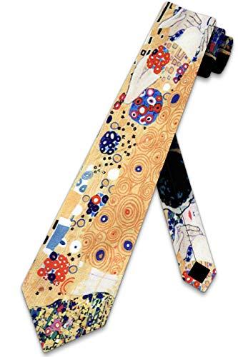 Herren Mikrofaser The Kiss Gustava Klimt Drei-Rooker Krawatte Krawatte