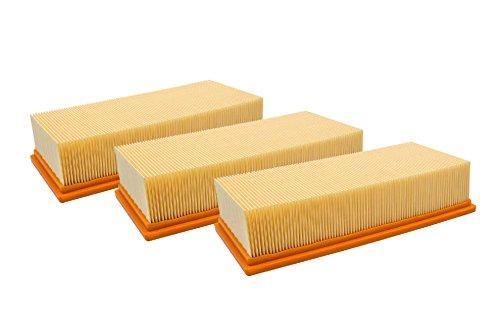 vhbw 3x filtro plisado plano compatible con aspiradoras de seco/mojado compatible con Hilti VC 300