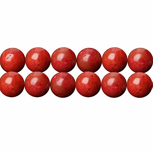 Abalorios de Piedras Semipreciosas Coral Esponja Teñidas Redondos 8mm Perlas para Fabricar Joyas Cerca de los 38cm Aprox 46 Piezas