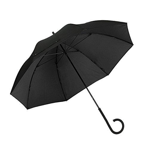 Paraguas con newbrellas único Twistable C Mango–resolver tradicional problema de almacenamiento–Soporte de Taza de café