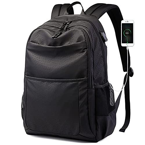 YLJXXY Mochila de Moda para Hombre, Mochila de Ordenador Portatil 15 Pulgadas, Mochila Impermeable con Puerto de Carga USB