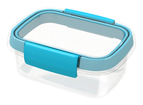 CURVER Smart Fresh Rect, Compuesto, Azul, 9.7x6.9x3.2 cm