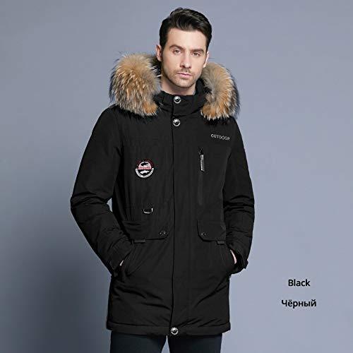 DPKDBN Heren Down Jacket, winter donsjack bontkraag jas afneembare hoed en bontkraag mannelijke kleding