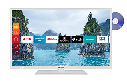 Telefunken XH32G511D-W 81 cm (32 Zoll) Fernseher (HD-Ready, Triple-Tuner, Smart TV, Prime Video, DVD-Player)