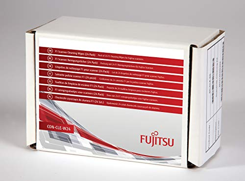 FUJITSU Pack of 24 F1 Cleaning Wipes for Fujitsu scanners