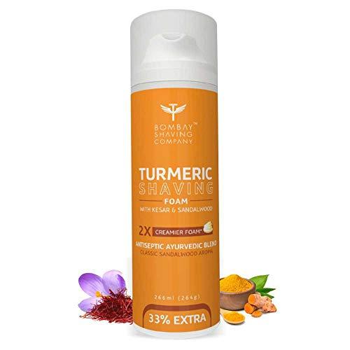 Bombay Shaving Company Turmeric Shaving Foam,266 ml (33% Extra) with Turmeric & Sandalwood