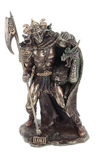Unbekannt Loki nordischer Gott bronziert Veronese Figur Odin