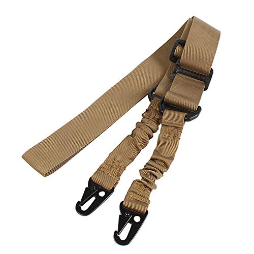 DESERTHAWK TACTICAL Waffengurt Gewehrgurt multifunktional Taktischer Bungee Sling 1 und 2 Punkt (2 Punkt Coyote)