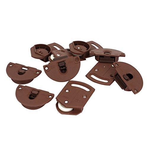 Armario Puerta corredera Engranaje de rodillos Panel de riel Kit interno 5 pares
