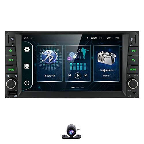 Android 9.0 Autoradio Bluetooth Car Stereo per Toyota Corolla Camry Prado Terios Touch screen da 7 pollici Radio FM Supporto Link specchio per telefoni IOS/Android Usb + Telecamera di backup