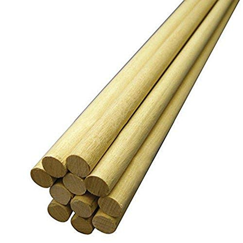 Hygloss Products, Inc 3/4-Inch x 12-Inch, 10-Pack Wooden Dowel...