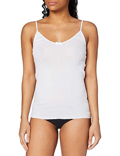 Calida Damen Unterhemd Spaghetti-Top Light, Einfarbig, Gr. 42 (Herstellergröße: S 40/42), weiß (weiss 001)