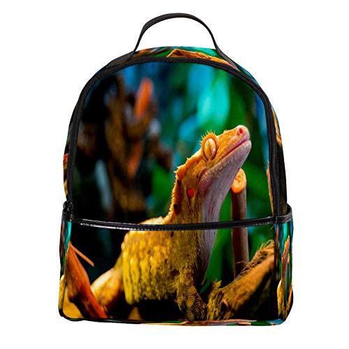 ATOMO Casual Mini Backpack Awesome Reptile Gecko Lizard PU Leather Travel Shopping Bags Daypacks