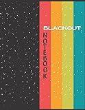 Blackout Notebook: 8.5'x11' Dark Paper 100 Pages Blank Medium Ruled Bujo Scrapbook