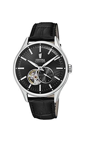 Festina Herren Analog Automatik Uhr mit Leder Armband F16975/3