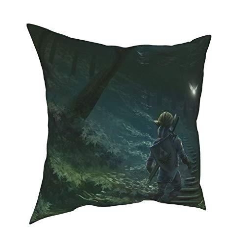 Ze-Lda - Funda de almohada con diseño de elfo en L, para sofá, decoración del hogar, 40,6 x 40,6 cm