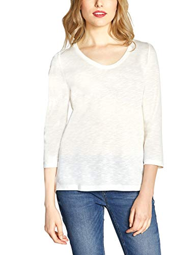 Street One Damen 313909 T-Shirt, Weiß (Off White 10108), (Herstellergröße:44)