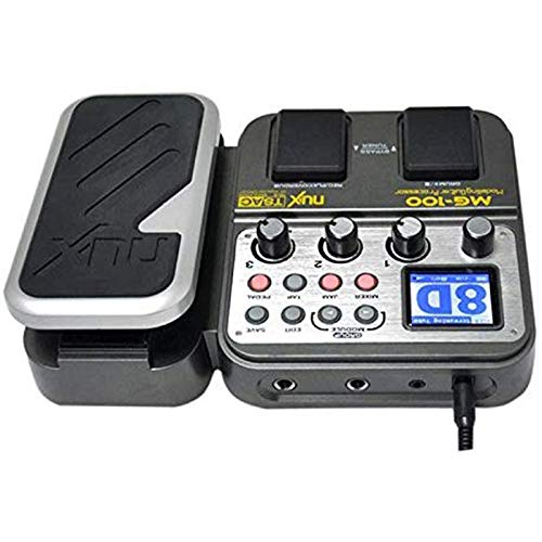 Riiai MG-100 Guitar Multi-Effects Processor Effect Pedal Drum Tuner Recorder 58 Effect 72 Preset Tuning Delay, Reverb, Amplifier Function
