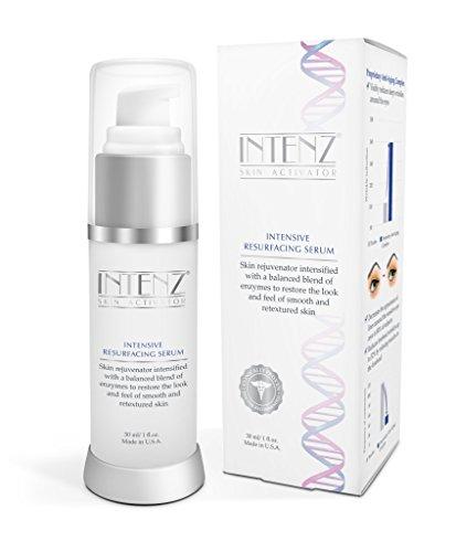 INTENZ Night Serum: Resurface | Triple Vitamin C Serum for Face Overnight UV Repair Skin Care | Dark Sun Spot Remover Anti-Aging | Snow Algae Powder Tripeptides Bioactive Antioxidant Complex