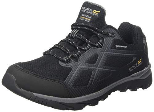 Regatta Kota II Low Waterproof Hiking Shoe, Zapatillas de Senderismo Hombre, Negro (Black/Granite 9v8), 45 EU