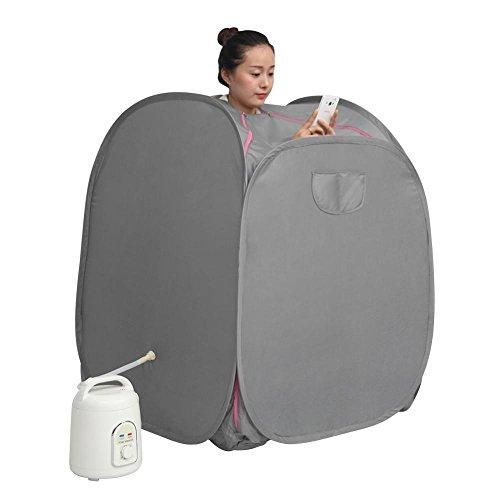 Garosa Dampfsauna Maschine 1.5L Tragbar Zuhause für Persönliche Spa Gesundheitsvorsorge Gewichtsverlust Therapie(220V)