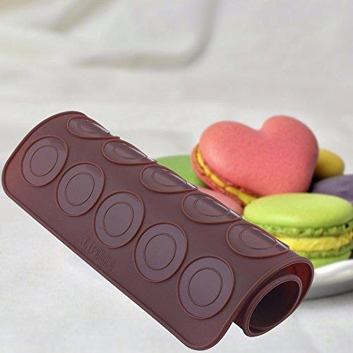 1 pièce pratique à pâtisserie en silicone Moule à Cake en forme de macarons four plaque de tôle Tapis de cuisson outils Café Rose rouge, Style A, 29.5 * 21.8cm B:28.8 * 25.8cm C:29.1 * 21.9cm