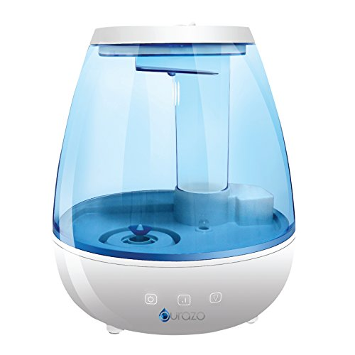 Purazo Ultrasonic Cool Mist Humidifier 3.5L Capacity Adjustable Mist, Whisper-Quiet Operation, Automatic Shut-Off, Led Night Light, Aromatherapy For Home Office Bedroom Living Room (White)