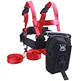 GSM Brands Ski Trainer Harness with Leash for Teaching Kids Skiing Safely
