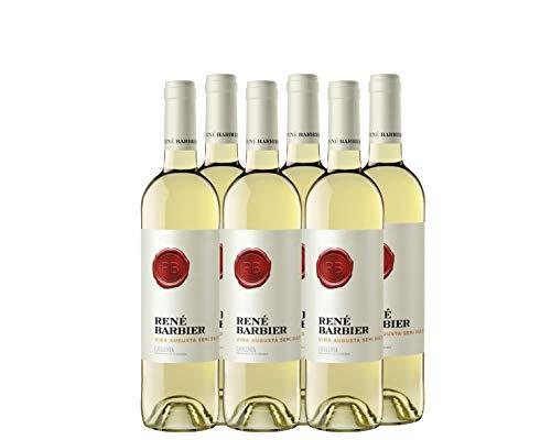 René Barbier Viña Augusta - Vino Blanco Semidulce - pack de 6 de 750 ml - Total: 4500 ml