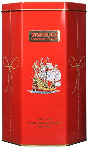 Tortuga Caribbean Golden Original Rum Cake Gift Pack 4oz - 4 Pack in Keepsake Tin