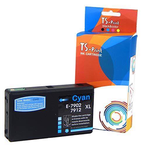 TS-Print Ersatz Tintenpatronen Kompatibel Epson 79XL T7902XL Cyan Blau Workforce Pro WF-4630DWF WF-4640DTWF WF-5110DW WF-5190DW WF-5620DWF WF-5690DWF T7912 XL