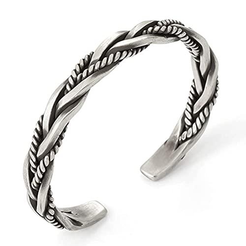 WIIBST Pulsera hecha a mano, pulsera de metal para mujeres/hombres para niñas/señoras/niños regalos – Talla única, abierta y ajustable, regalo perfecto