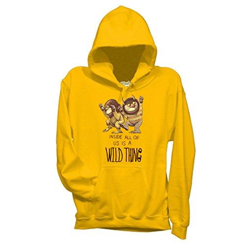 MUSH Sweatshirt Wo Die Wilden Kerle Wohnen - Film by Dress Your Style - Baby-S-Gelb