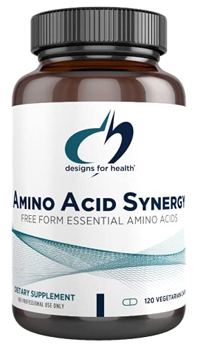 Designs for Health Amino Acid Synergy - Vegetarian Essential Amino Acids Supplement with BCAAs, Alpha-Ketoglutarate, Methionine + B6 (P-5-P) - Support for Athletes + Muscles (120 Capsules)
