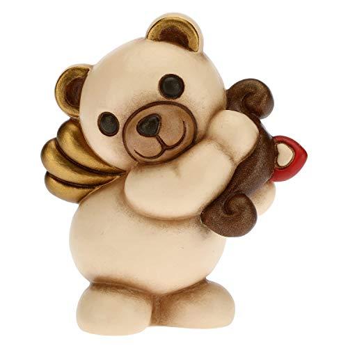 THUN - Soprammobile Teddy Cupido - Idea Regalo per il Giorno degli Innamorati - Soprammobile da Collezione - Linea Tell Me Your Love - Formato Piccolo - Ceramica - 6,8 x 5,8 x 8,5 h cm