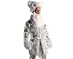 This is a limited edition collaboration with Lil Nas X It is an exclusive Santa hat as seen on Lil Nas X's Chrome Santa character The Chrome Santa featured in the music video for his new song, HOLIDAY An embroidered Lil Nas X logo is featured on the ...