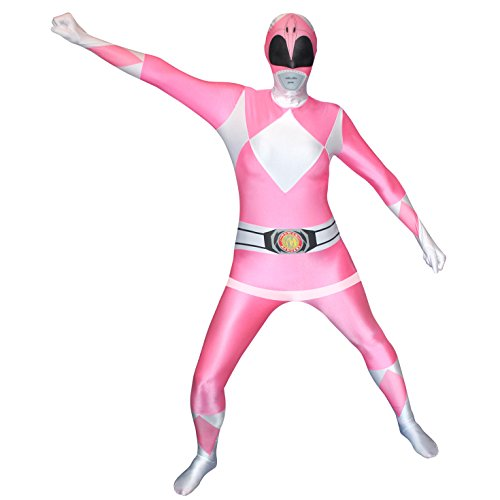 Morphsuits - Costume per Travestimento da Power Rangers, Adulto, Taglia: L, Colore: Rosa