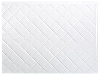 FASÄDE Quilted Decorative Vinyl Backsplash 15 sq ft Kit in Gloss White