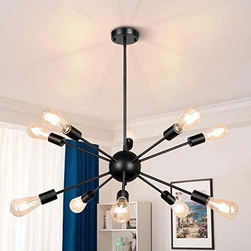 Sputnik Chandeliers 10 Light Modern Pendant Lighting Metal Ceiling Light Fixture Adjustable product image