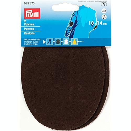 Prym 14 x 10 cm LOT DE 2 patchs en imitation daim pour repasser/sewing-on, marron foncé