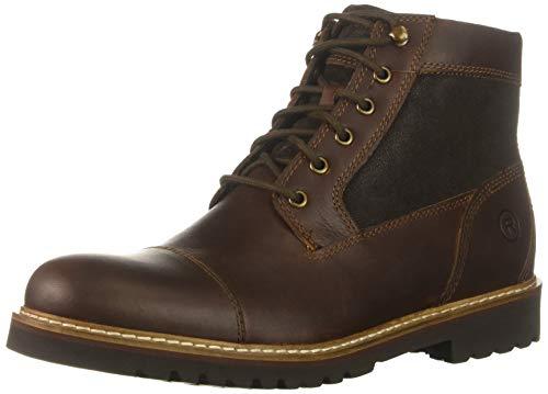 Rockport Men's Marshall Rugged Cap Toe Boot, saddle brown, 10.5 M US