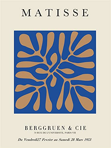 Carteles e impresiones artísticos de Matisse con dibujo de línea abstracta nórdica mínima, pinturas de lienzo sin marco familiares A1 50x75cm