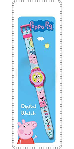 Peppa Pig Reloj de Pulsera Digital ke02 (PP17006), Multicolor (Kids Licensing 1)