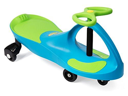 Plasmart Aqua Blue/Lime Green Plasma Car Ride On (PC035)