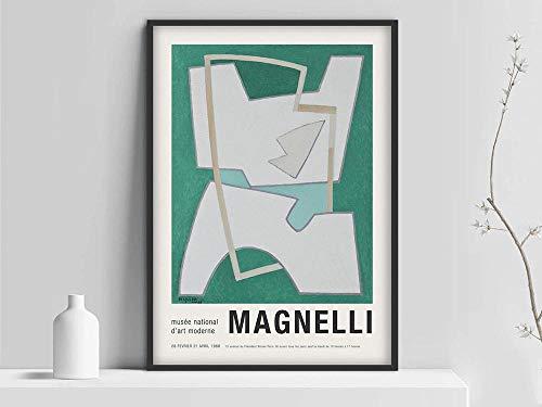 Póster de Alberto Magnelli, póster de exposición de Magnelli Art, artista de pintura italiana, impresión de Magnelli, lienzo sin marco A 20x30cm