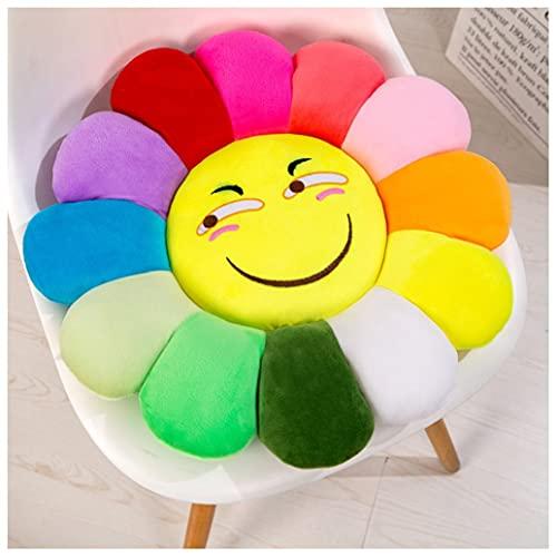 GHJL Flower Plush Pillow,Colorful Sunflower Plush Pillow Plush Sofa Cushion Toy Soft & Comfortable Cushion Mat Home Bedroom Shop Restaurant Decor (Color : Color 10, Size : 38cm)